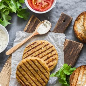 Vegetarische burger s-markt